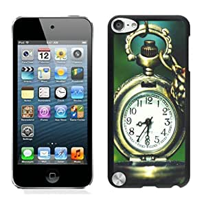 Clocks Flower Macro Pocket Watch For iPod Touch 5 Black Case Cover