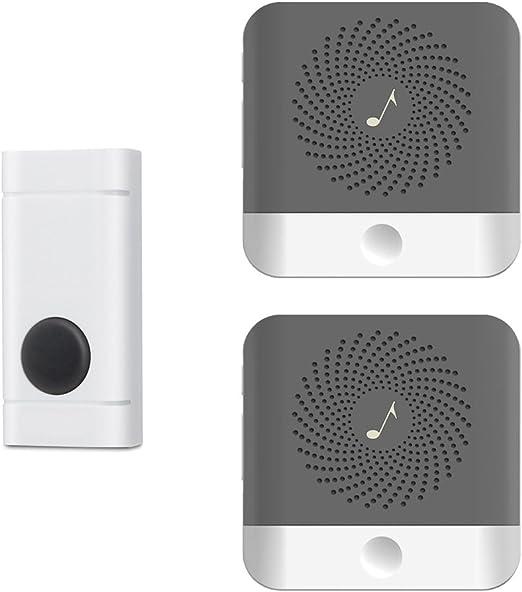 4 Volumes 1 Transmitter 2 Receivers 28 Chimes Waterproof Wireless Doorbell