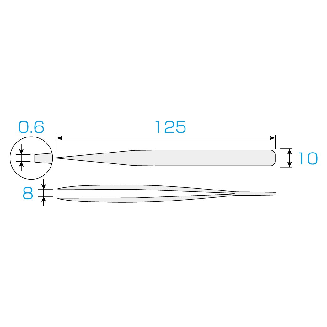 HOZAN Thick type tweezers PP-100 Japan Import Tools & Home ...