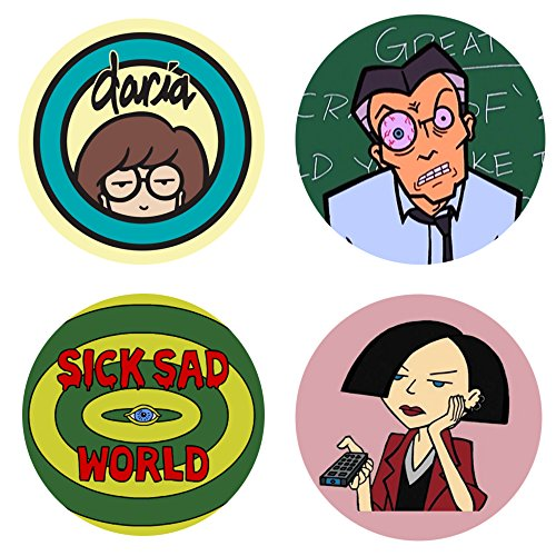 Daria Morgendorffer Costumes (DARIA MTV 4 NEW 2.25 inch pins button badges)