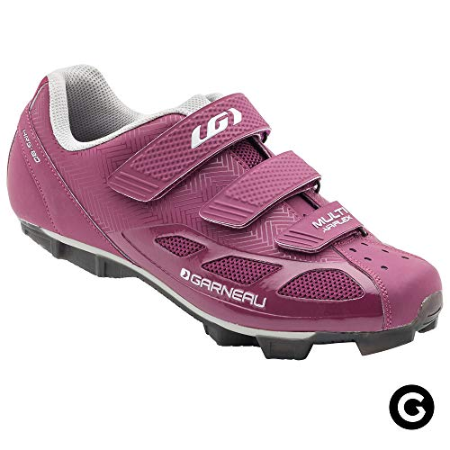 Louis Garneau Women's Multi Air Flex Bike Shoes for Indoor Cycling, Commuting and MTB, SPD Cleats Compatible with MTB Pedals, Magenta/Drizzle, US (8), EU (39) ()