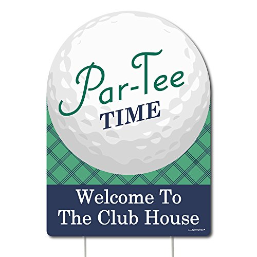 Big Dot of Happiness Par-Tee Time - Golf - Party Decorations - Birthday or Retirement Party Welcome Yard (Golf Tee Signs)