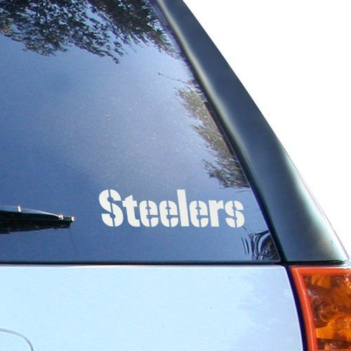 Pittsburgh Steelers 5'' x 6'' Silver Window Graphic Decal