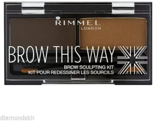 6 Pack) RIMMEL LONDON Brow This Way Brow Sculpting Kit Dark Brown: Amazon.es: Belleza