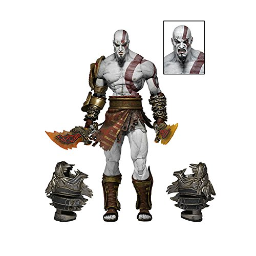 RONSHIN God of War Ghost of Sparta Kratos Toy Collectible Movable Action Figure Model Toy for Kids Adult Ares 3