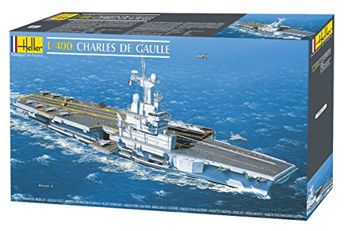 Heller Charles De Gaulle French Aircraft Carrier (1/400 Scale) - French Navy Aircraft Carrier