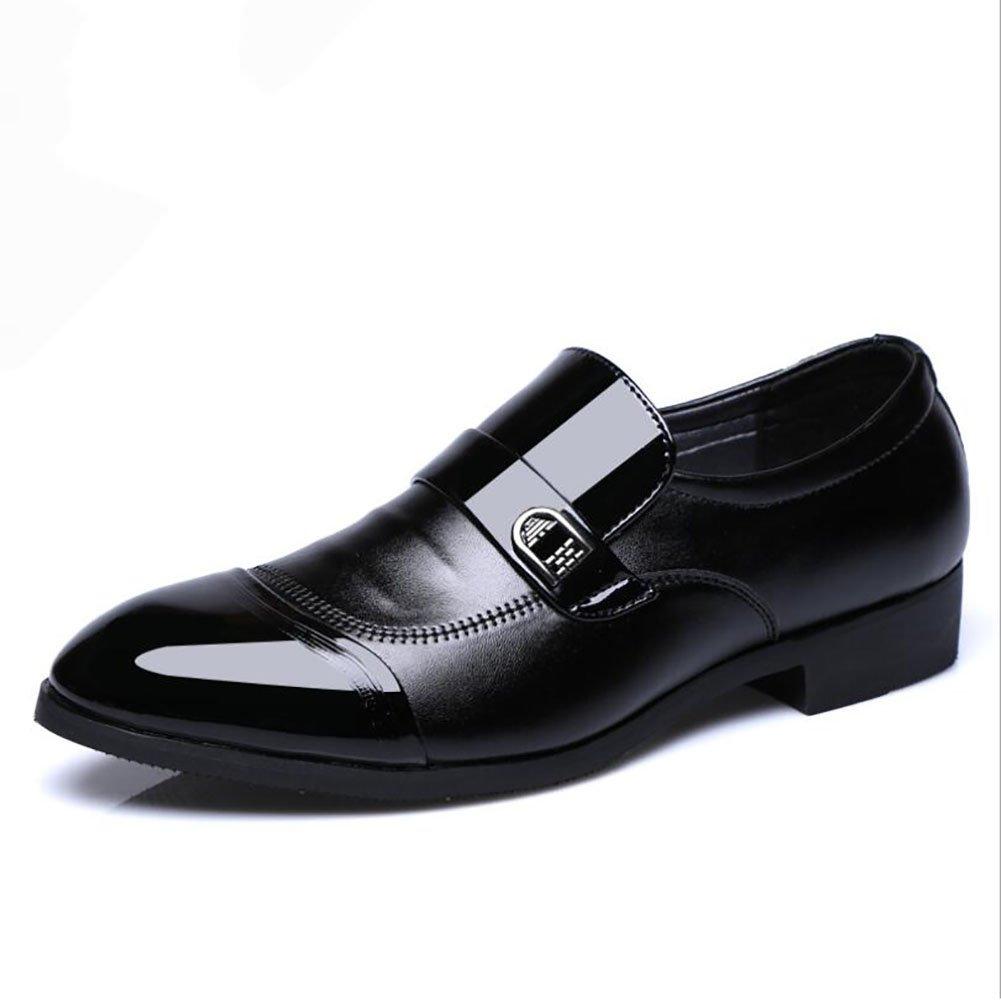Herren Lederschuhe Herrenschuhe Mikrofaser Frühjahr Herbst Mode Stiefel Formale Schuhe Stiefel Wanderschuhe Schwarz Braun Hochzeit Party & Abend (Farbe   Schwarz, Größe   42)