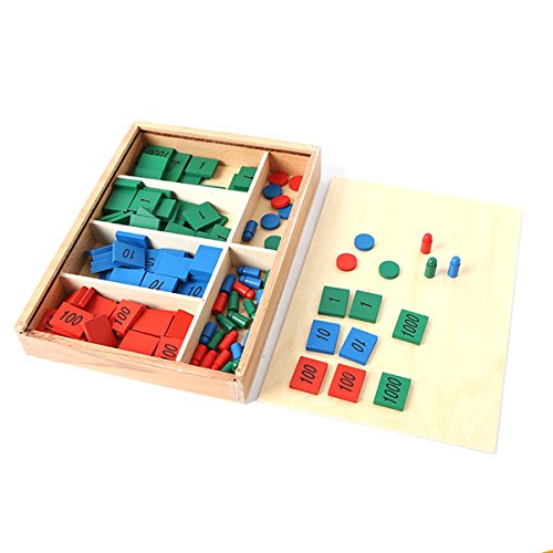 Amberetech Wooden Toys Hundred Board Montessori 1-100 Consecutive Numbers Wooden Educational Game for Kids with Storage Bag,W8.26 L8.26inches Zerowin