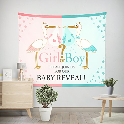 DPIST Gender Reveal Party Decorations Supplies Photo Booth Backdrop For Pictures baby shower Birthday Party Decorations Studio Props -