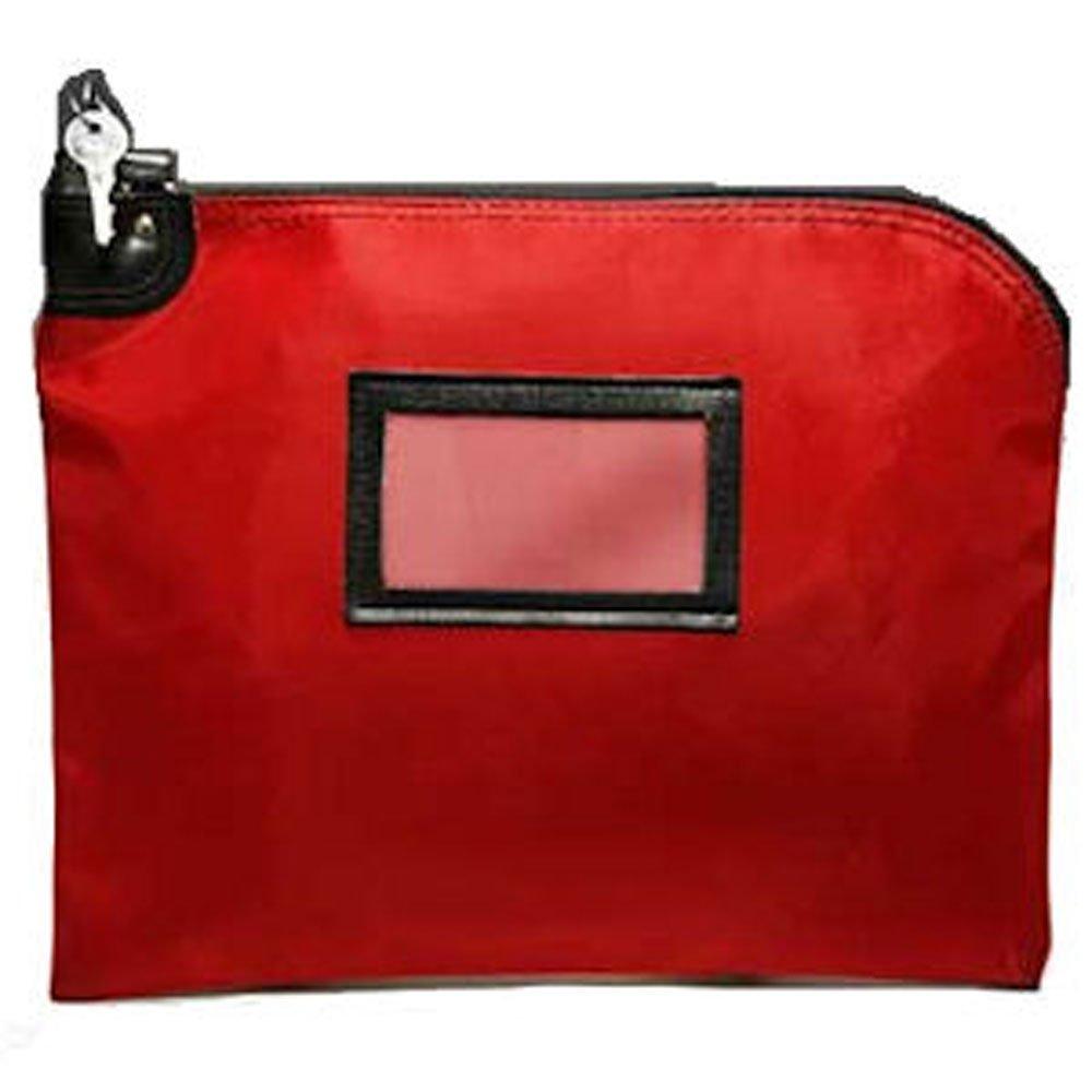 Burgundy Locking Courier Bag (HIPAA) - 15W x 11H BankSupplies Inc.