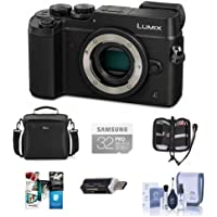 Panasonic Lumix DMC-GX8 Mirrorless Digital Camera Body Black - Bundle with Camera Bag, 32GB SDHC U3 Card, Cleaning Kit, Memory Wallet, Card Reader, Software Bundle