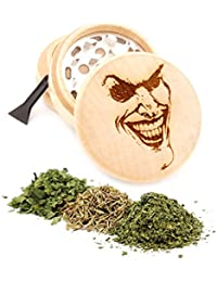 Purchase Joker Face Engraved Premium Natural Wooden Grinder Item # PW91316-33 online