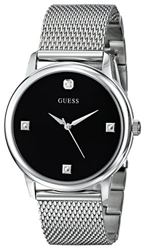 GUESS U0280G1 Round Silver Tone Diamond Accented product image