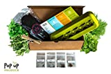 All in One - Organic Herbs Home Garden Compost, Container and Seed Starter Kit