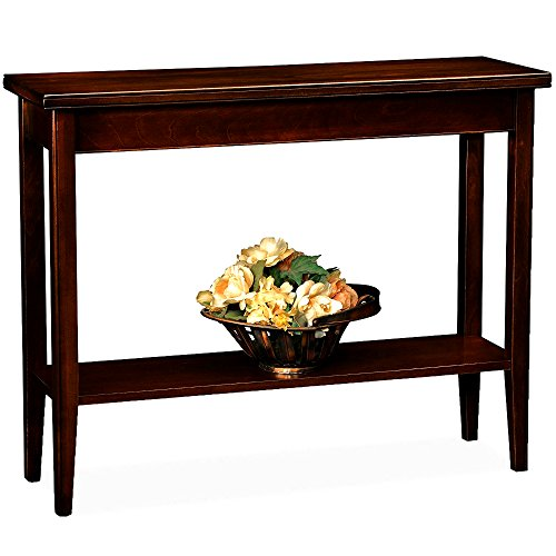 Narrow Hardwood Table Console Entryway Hallway Living Room Home Office Wooden Lower Shelf Chocolate Cherry Finish Decorative Classic Furniture & eBook by Easy&FunDeals