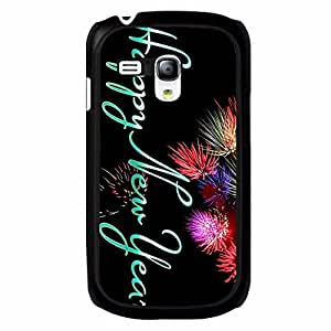 New Style 2016 Happy New Year Design Phone Case Hard Plastic Back Case Cover For Samsung Galaxy S3 MINI,Merry Christmas---Black