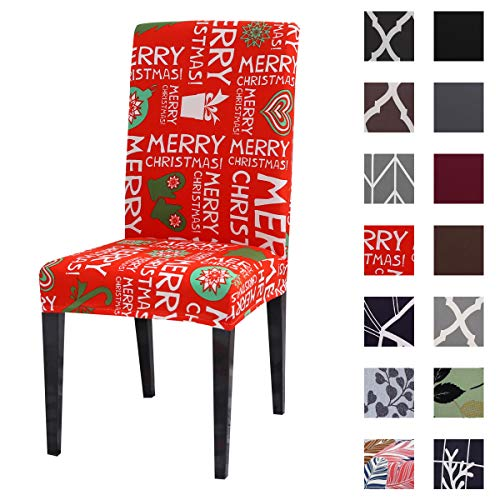 Kivors Chair Covers Removable Washable Stretch Slipcovers Chairs 4/6 Pieces Chair Protective Covers for Dining Room, Hotel, Banquet, Ceremony (4 PCS/Packet,Red)
