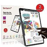 Paper-Like iPad Pro 12.9 Screen Protector (2018), BERSEM Paperlike iPad pro 12.9 Matte PET Film for Drawing Anti-Glare and Paper Texture iPad Pro 12.9 Screen Protector (2 Pack) Easy Installation Kit