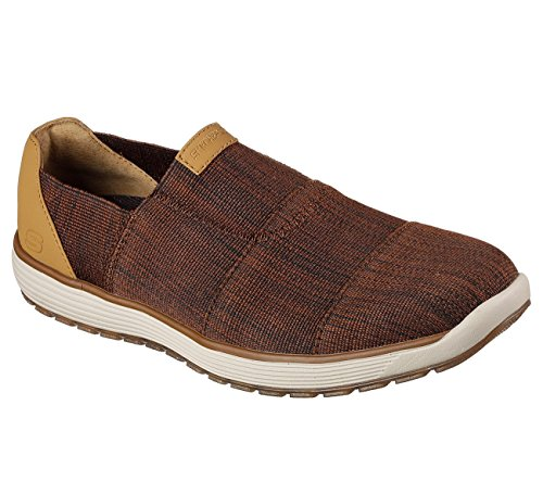 Skechers Usa Mens Venick Perlo Slip-on Brun Mocassin