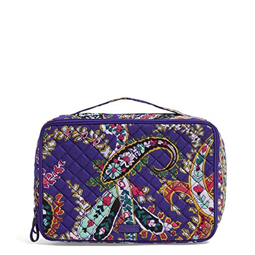 Vera Bradley Iconic Large Blush & Brush Case, Signature Cotton, Romantic Paisle