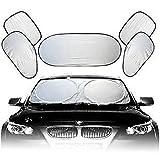 ewinever(TM) 1set New Full Car Sun Shade Front Side Rear Window Windowscreen Reflector 6 Pcs Set