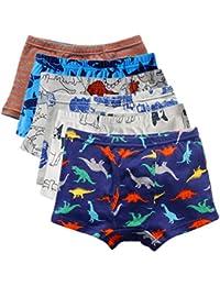 Boy's Boxer Briefs Comfortable Cotton Short Toddler Underwear Set