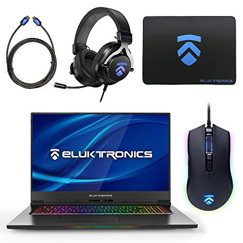 Eluktronics MAX-17 Slim & Ultra Light Notebook PC: Intel i7-9750H NVIDIA GeForce RTX 2070 Max-P Graphics Card 144Hz FHD IPS 2TB NVMe SSD + 64GB RAM - World