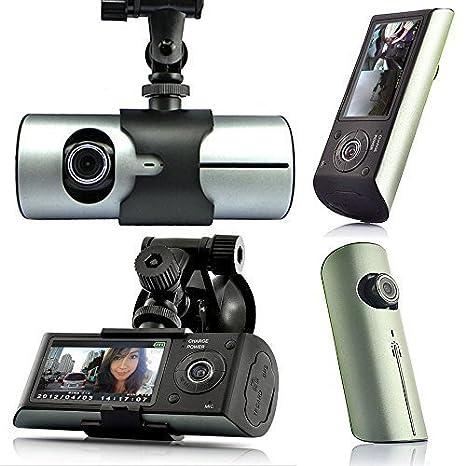 HD Dual Camera Car Vehicle GPS Logger Dash Crash Video Recorder Cam DVR G-Sensor