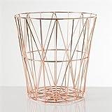 Torre & Tagus 902116B Diamond Weave Storage Basket, Rose Gold, Large