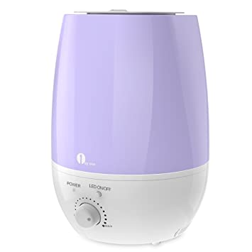 1byone Humidifier Ultrasonic Cool Mist for Home, Bedroom, Office - Whisper  Quiet Humidifying Unit with 7 Colors LED, Aromatherapy Essential Oil Aroma