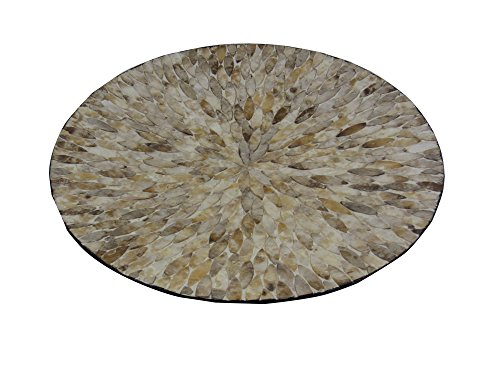 Firefly Home Collection Round Capiz Shell Mdf Plate, 21.75