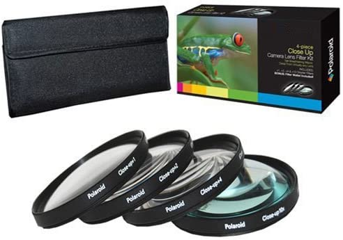 D3S D200 D40x D300 D7000 D5000 D3200 D50 D3100 D60 D100 D90 D600 Digital SLR Cameras /& For The Canon Digital D5100 D3000 PLR Optics 62MM +1 +2 +4 +10 Close-Up Macro Filter Set with Pouch For The Nikon D40 D800E D800 D700 D4 D3 D80 D70