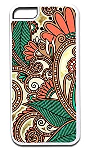 01-Paisley Kaleidescope- Case for the APPLE iphone 5s ONLY!!! (Not Compatible with the Regular iphone 5s!!) -Hard White Plastic Outer Case