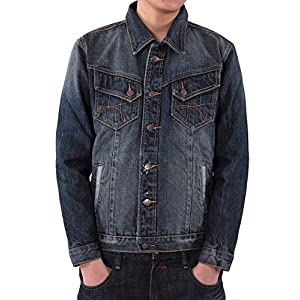 Men's Denim Jacket Coat Outwear Plus Size 3XL