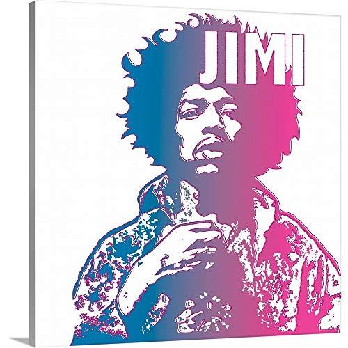 Jimi (Hendrix) Canvas Wall Art Print, 12