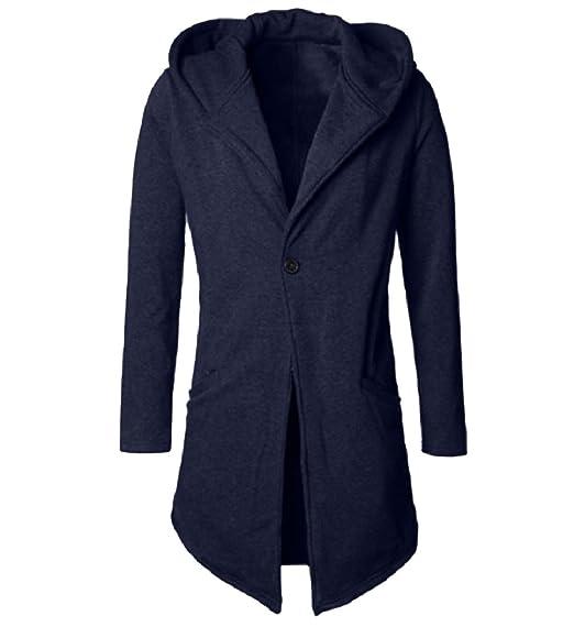 Aooword men clothes Mode Automne Hiver Slim Fit manteau à