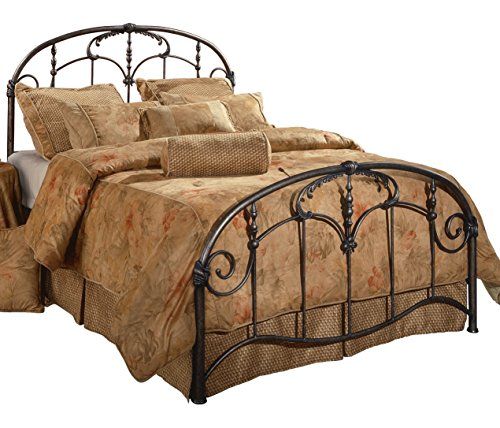 Hillsdale Furniture 1293BKR Jacqueline Bed Set with Rails, King, Old Brushed Pewter