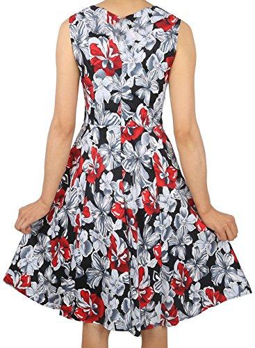 Mujer Sin Mangas Sin Mangas Con Cuello En V Vestido De Tela Escocesa Larga De La Princesa Del Soplo Red