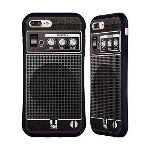 Head Case Designs Black Acoustic Guitar Amp Hybrid Case for Apple iPhone 7 Plus / 8 Plus (Guitar Amplifier Head Design)
