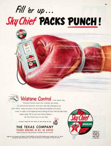 1952-ad-texaco-sky-chief-gasoline-havoline-motor-oil-volatane-milton-berle-pump-original-print-ad