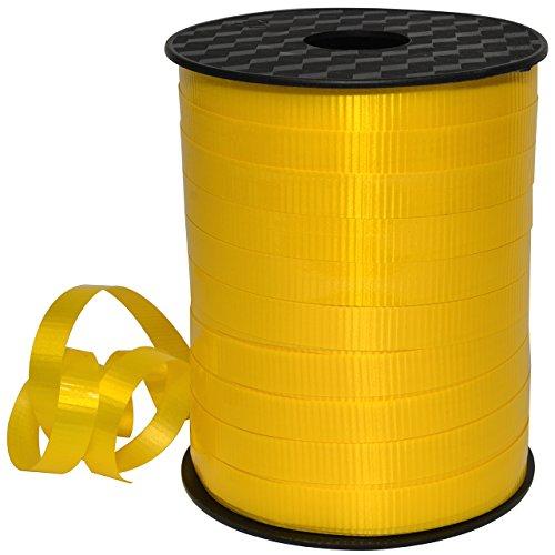 Morex Ribbon, Polypropylene, 3/8 inch by 250 Yards, Yellow, Item 18310/250-605 Lucky Glossy Curling Ribbon, 3/8″ x 250 yd