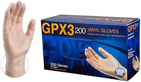 AMMEX Clear Vinyl Disposable Gloves