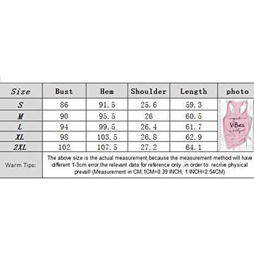 Senza Lettere da Canotta T Maniche V e Size S Scollo Senza a Pink Maniche Racerback Yoga con Donna Color Ydncmgga Stampate Shirt PBqwE