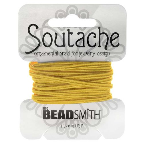 BeadSmith Soutache Braided Cord 3mm Wide - Goldenrod Yellow (3 ()