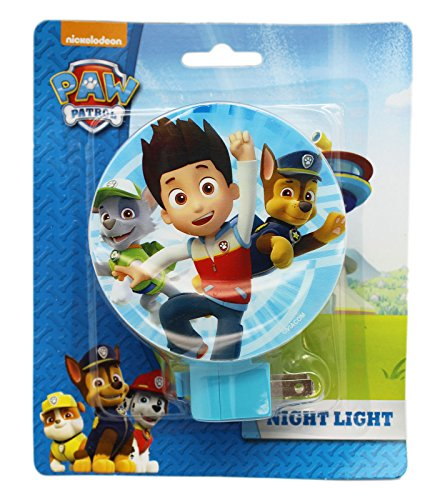 Paw Patrol Blue Colored Shade Swivel Base Night Light