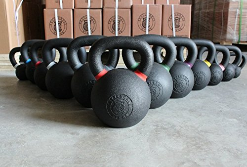 Kettlebell Kings Complete Set | Cast Iron Kettlebell 5 Pound Increments | Designed for Home Workouts, Swings & Strength Training