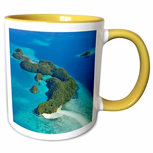 3dRose Danita Delimont - Islands - Rock Islands, Palau - OC16 KSU0019 - Keren Su - 15oz Two-Tone Yellow Mug (mug_140765_13)