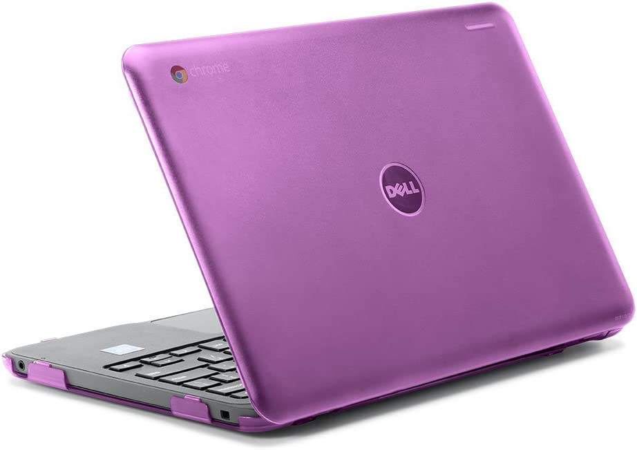 "iPearl mCover Hard Shell Case for 2017 11.6"" Dell Chromebook 11 3180 Series Laptop (NOT Compatible with 210-ACDU / 3120/3189 Series) (Purple)"