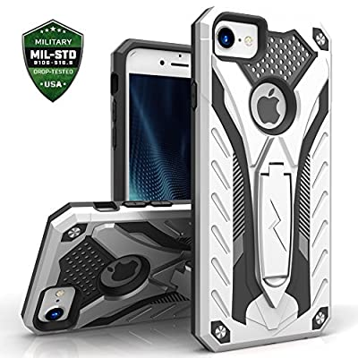 iPhone 7 Case, Zizo [Static Series] Shockproof [Military Grade Drop Tested] with Built-in Kickstand [iPhone 7 Heavy Duty Case] Impact Resistant
