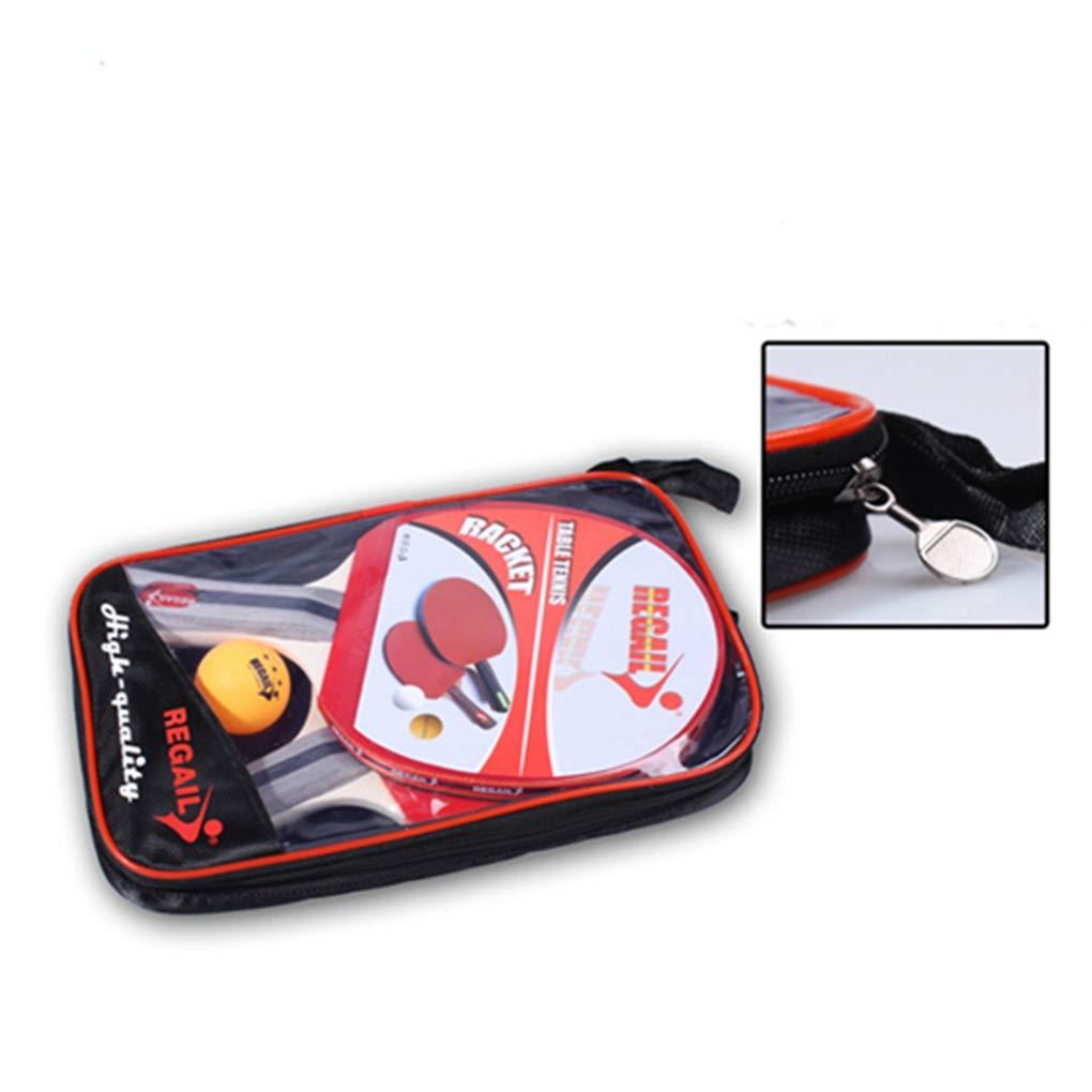 Egurs Juego de Ping Pong de Ping Pong Paquete de 2 paletas//Raquetas Premium y 3 Bolas de Tenis de Mesa con Funda port/átil.